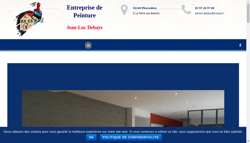 Capture d'écran du site de SARL Jean-Luc Debays