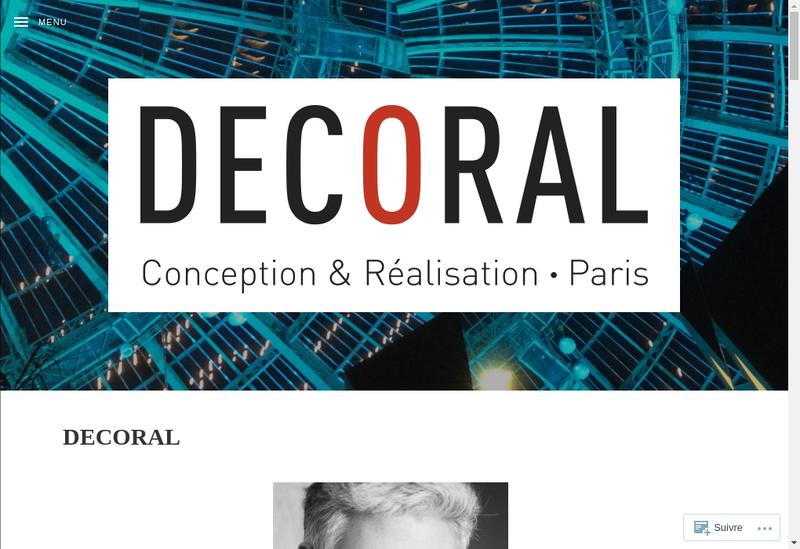 Capture d'écran du site de Decoral