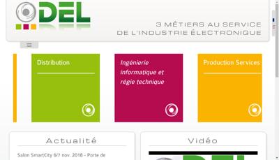 Capture d'écran du site de Del la Distribution Electronique