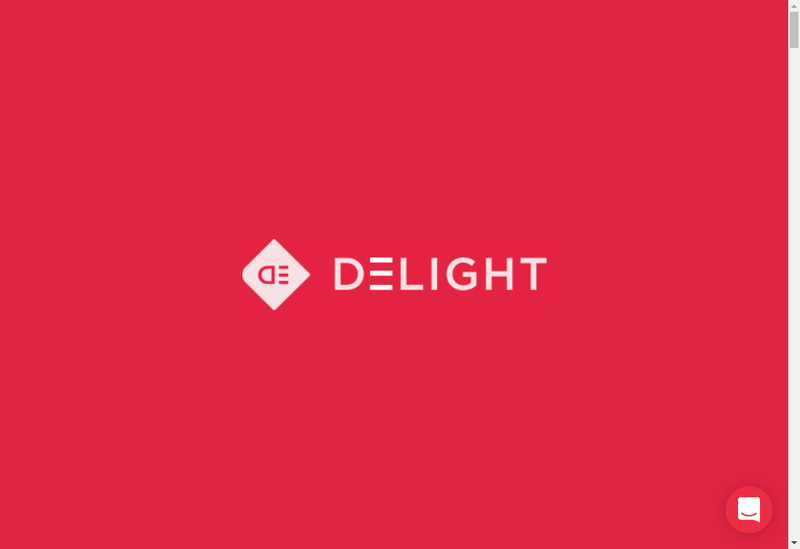 Capture d'écran du site de Delight