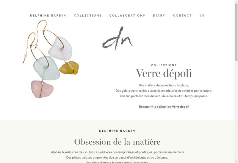 Capture d'écran du site de Delphine Nardin