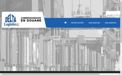 Site internet de Delta Logistics