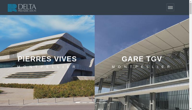 Capture d'écran du site de Delta Prefabrication