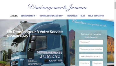 Capture d'écran du site de Transports Jumeau