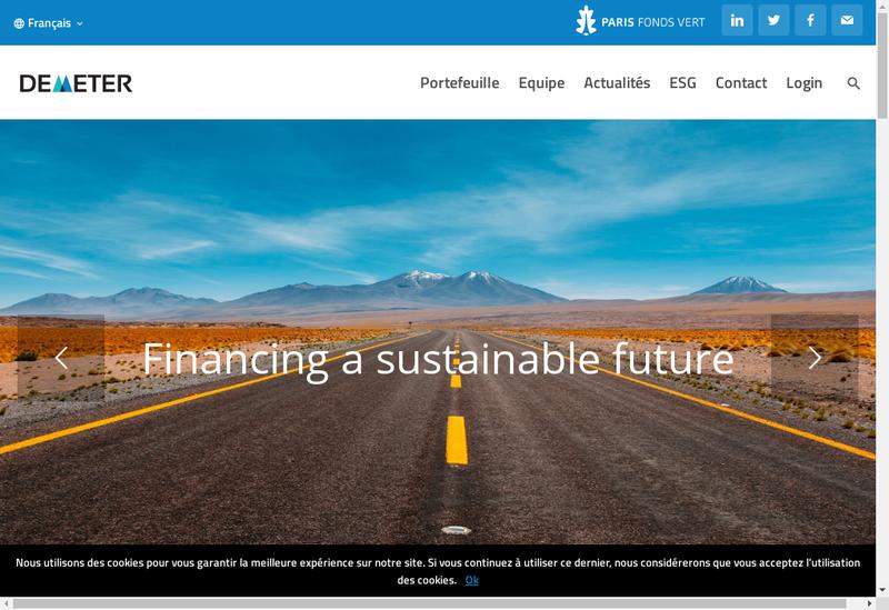 Capture d'écran du site de Cyris