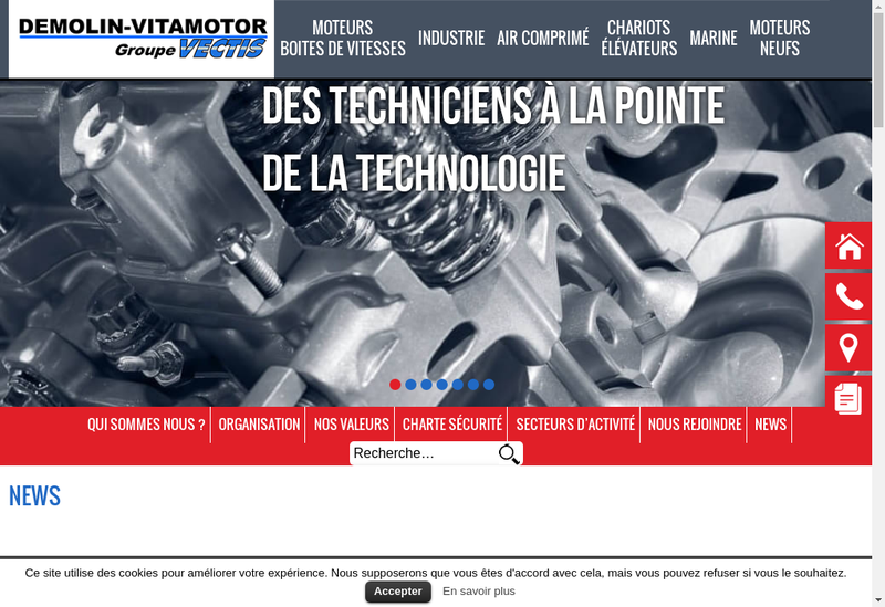 Capture d'écran du site de Demolin Reims Maintenance