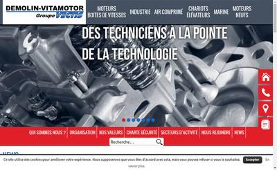 Site internet de Demolin Reims Maintenance