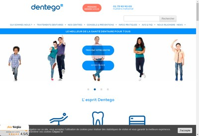 Site internet de Dentego