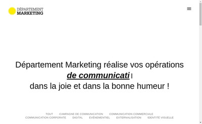 Site internet de Departement Marketing
