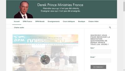Capture d'écran du site de Derekprince France