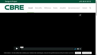 Site internet de Cbre Design & Project