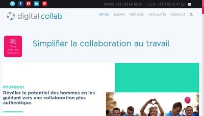 Site internet de Digital Collab