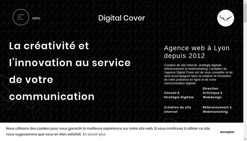 Capture d'écran du site de Digital Cover Social Cover