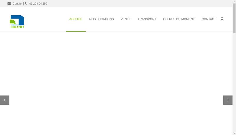 Capture d'écran du site de Dimanet Dimetal