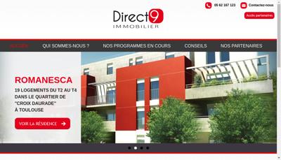 Capture d'écran du site de D4 Commercialisation