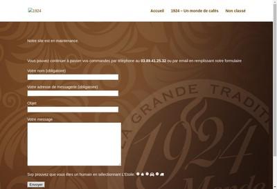 Site internet de 1924 un Monde de Cafes
