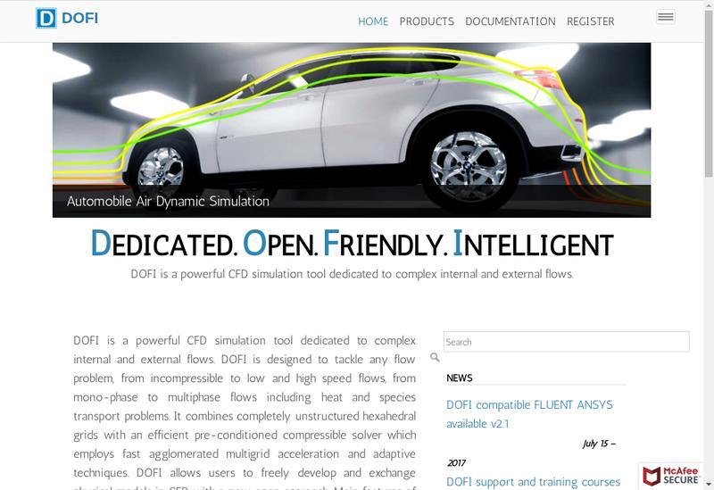 Capture d'écran du site de Dfm Europe