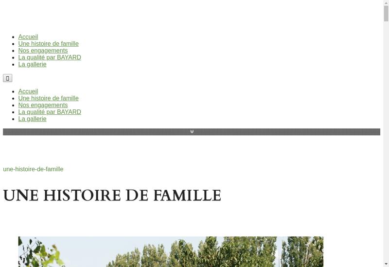 Capture d'écran du site de SARL Domaine Bayard
