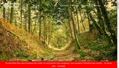 Capture d'écran du site de Le Domaine de Broceliande