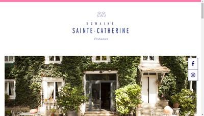 Site internet de Domaine Sainte Catherine