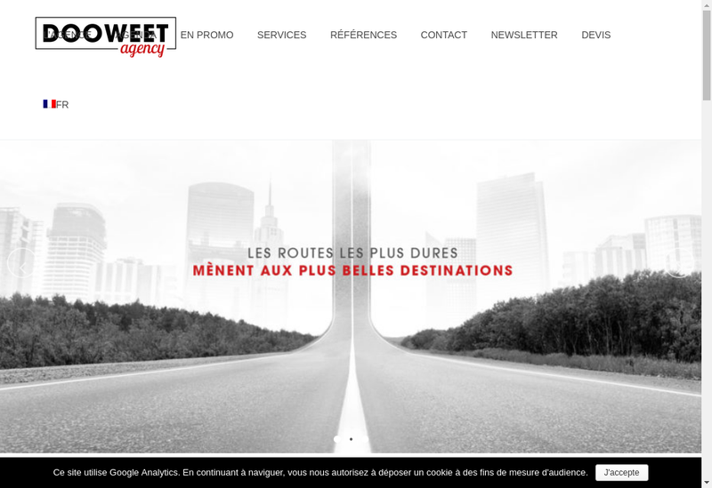 Capture d'écran du site de Dooweet Agency