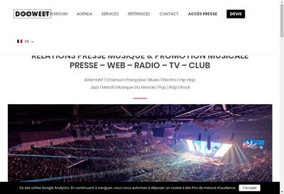 Site internet de Dooweet Agency