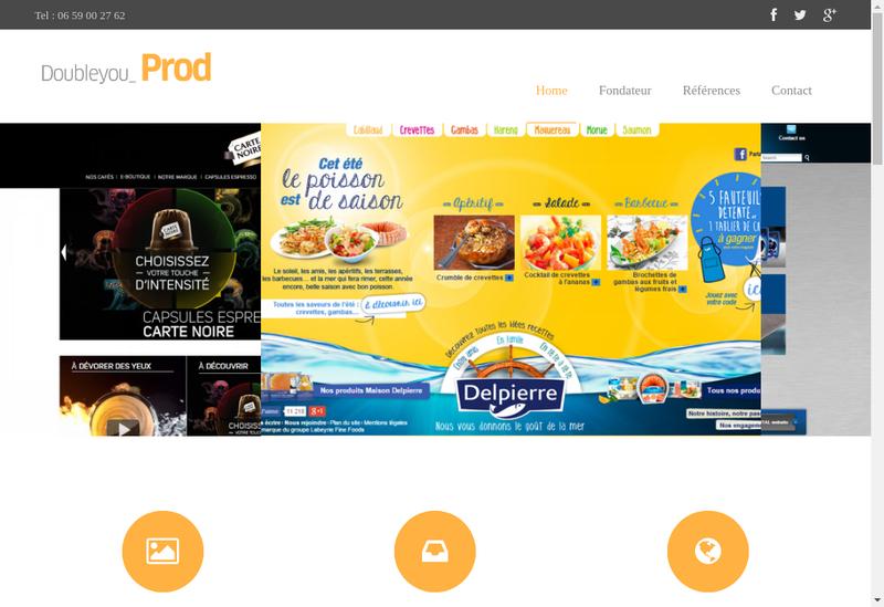 Capture d'écran du site de Doubleyouprod