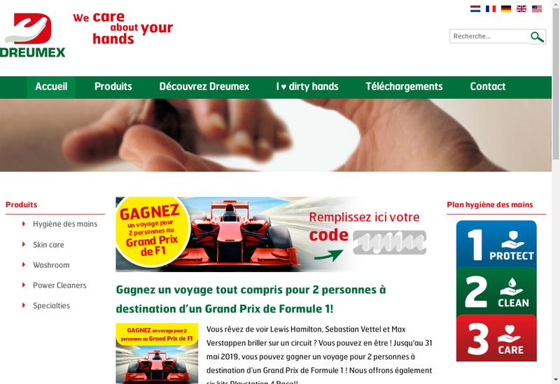 Capture d'écran du site de Dreumex