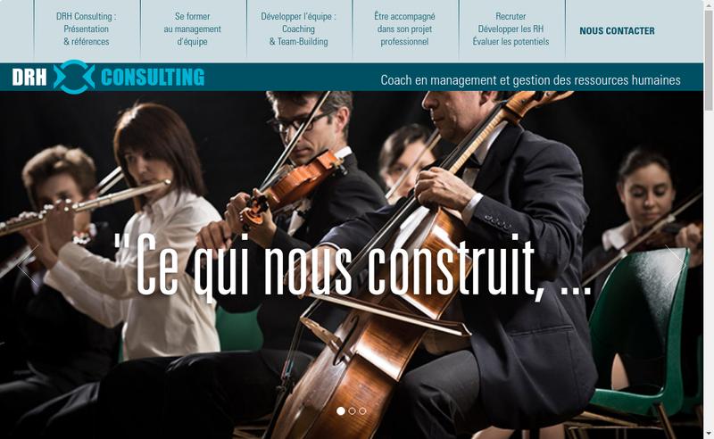 Capture d'écran du site de Drh Consulting