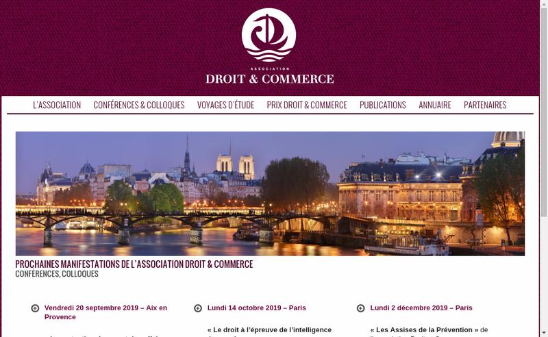 Capture d'écran du site de Droit et Commerce