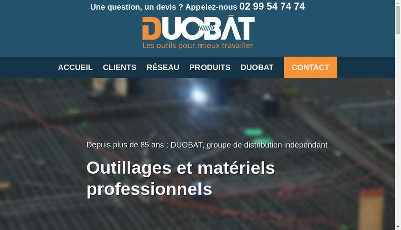 Capture d'écran du site de Duobat