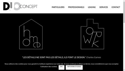 Site internet de Duo Concept Amenagement
