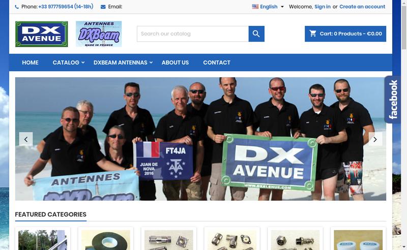 Capture d'écran du site de DX AVENUE