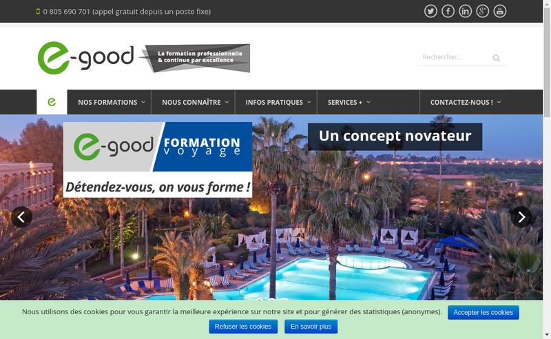 Capture d'écran du site de E-Good