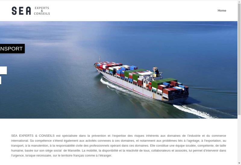 Capture d'écran du site de Sea Experts & Conseils