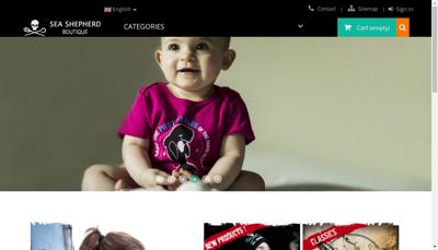 Capture d'écran du site de Sea Shepherd Boutique
