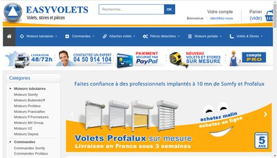 Site internet de Easy Volets