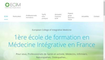 Site internet de ECIM European College Of Integrative Medicine