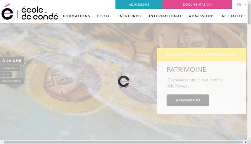 Capture d'écran du site de Le Conde
