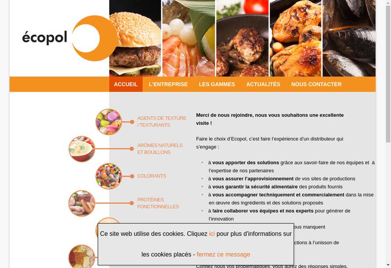 Capture d'écran du site de Ecopol