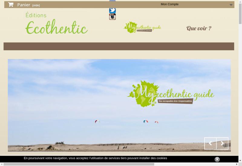 Capture d'écran du site de Ecothentic