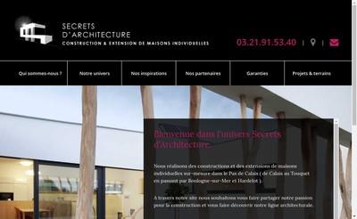 Site internet de Secrets d'Architecture