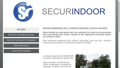 Capture d'écran du site de Secur Indoor