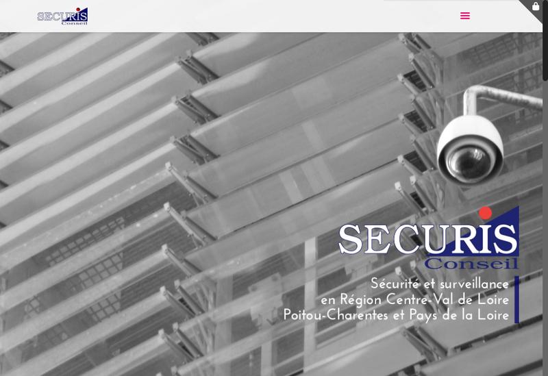 Capture d'écran du site de Securis Conseil