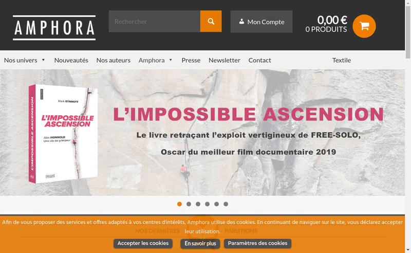 Capture d'écran du site de Editions Amphora