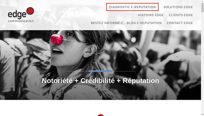 Capture d'écran du site de Edge Communication