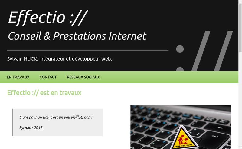 Capture d'écran du site de Sylvain Huck