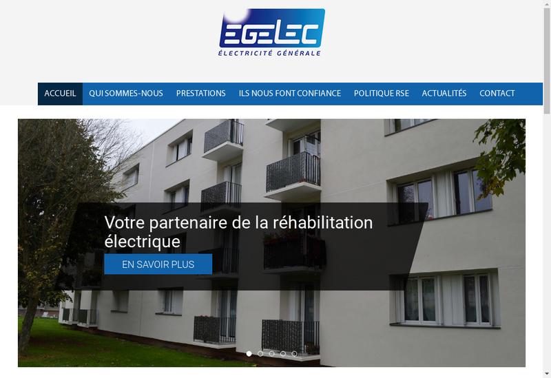 Capture d'écran du site de Egelec Entreprise Generale Electricite