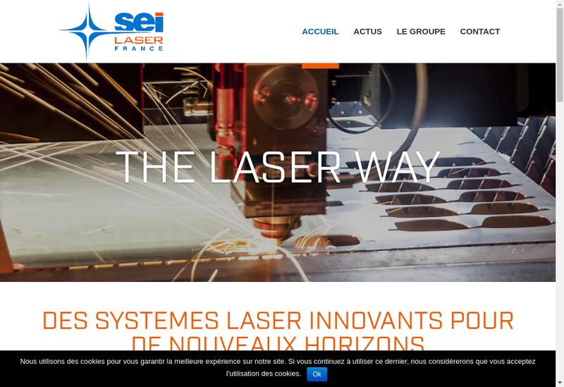 Capture d'écran du site de Sei Laser France