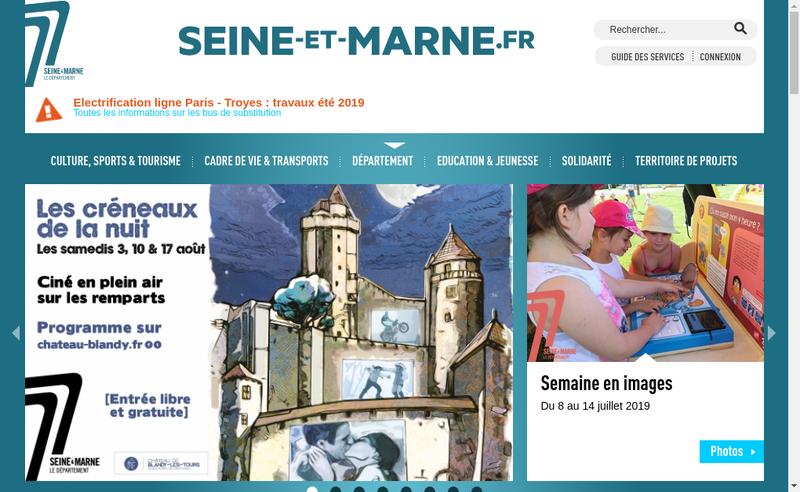 Capture d'écran du site de Seine et Marne Habitat